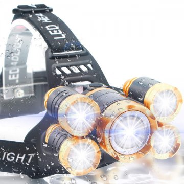 Čelovka Headlamp 5 x CREE LED