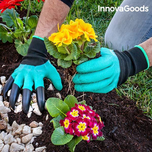 Zahradní Rukavice s Drápy na Okopávání InnovaGoods 3ebd7049ce